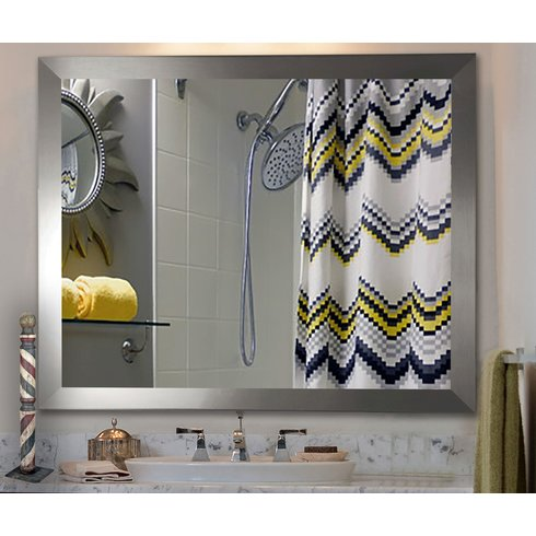 Modern Rectangle Wood Wall Mirror   V03. Rayne Mirrors Inc    High Quality Mirrors  Wall Mirrors  Floor