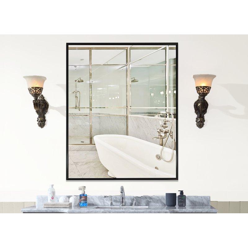 Rayne Mirrors Inc American Made Rayne Alpha Black Wall Mirror